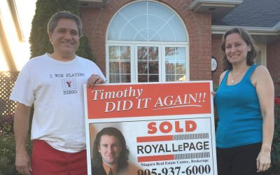 We are very happy that our home is sold