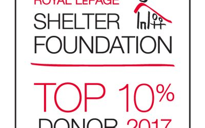 Top 10% of donors for the Royal LePage Shelter Foundation for 2017