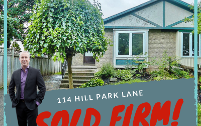 114 Hill Park Lane sold firm!
