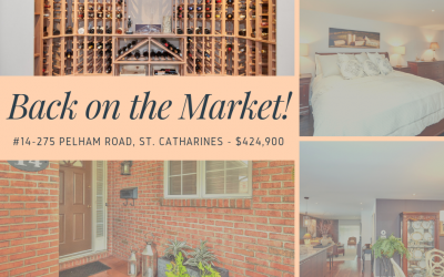 #14-275 Pelham Road is back on the market!