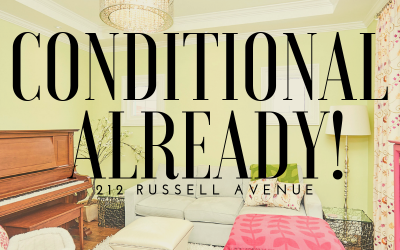 212 Russell Avenue is sold conditionally!