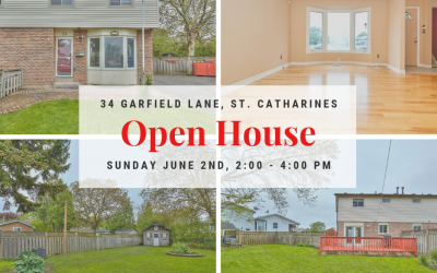 OPEN HOUSE at 34 Garfield Lane, Sunday June 2nd, from 2:00 – 4:00 PM!
