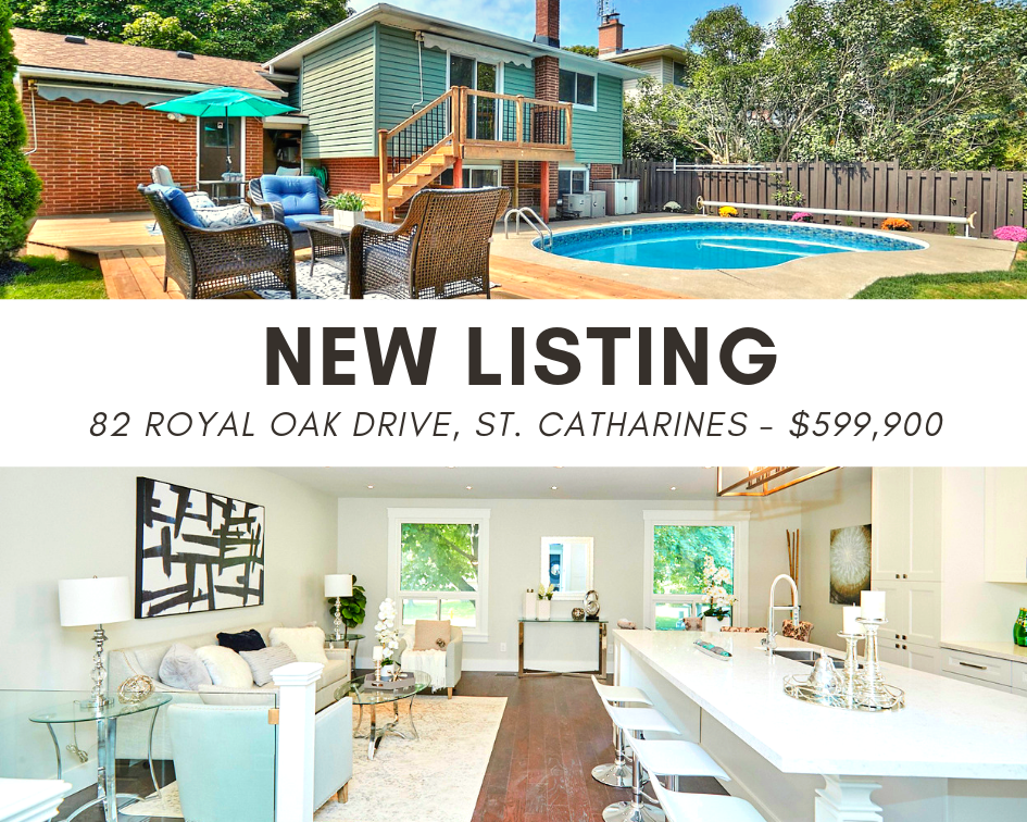 JUST LISTED! 82 Royal Oak Drive, St. Catharines