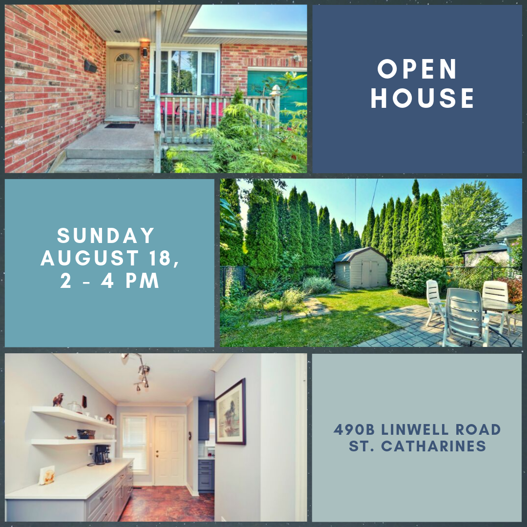 OPEN HOUSE, August 18, 2:00 – 4:00 pm.