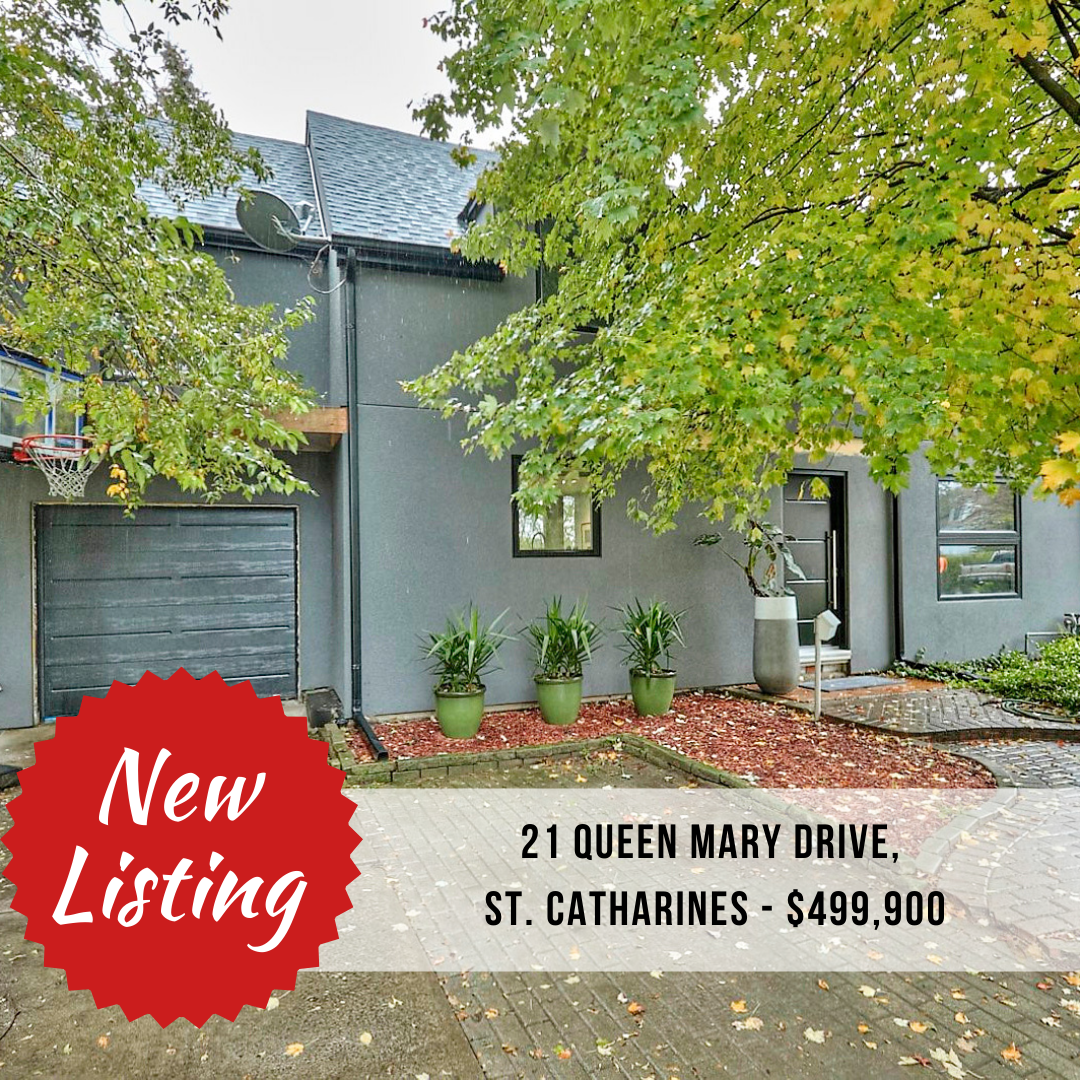 NEW LISTING: 21 Queen Mary Drive, St. Catharines