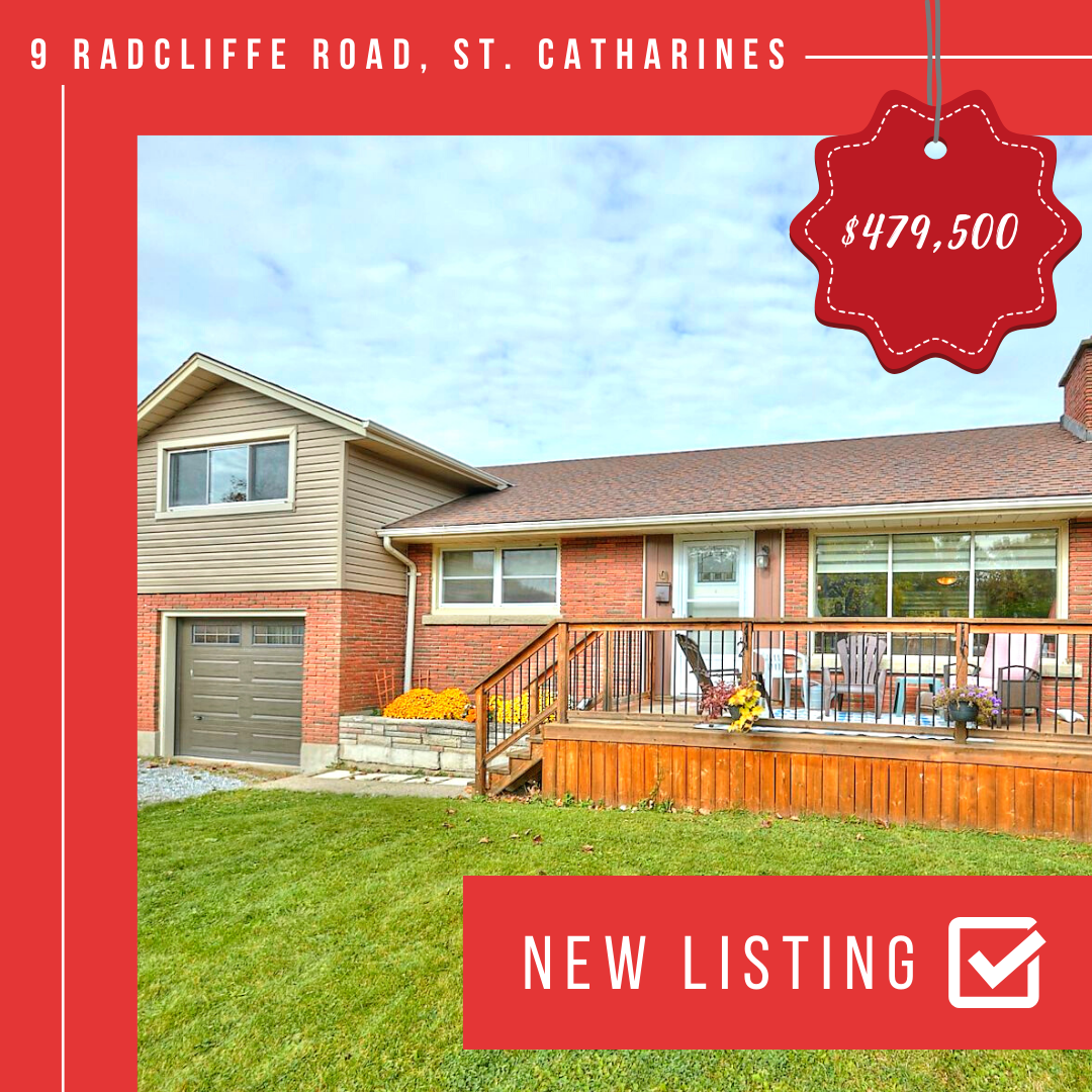 NEW LISTING: 9 Radcliffe Road, St. Catharines